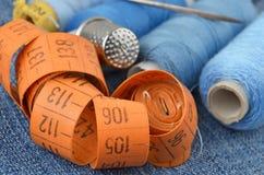 Retro sewing kit Stock Photos