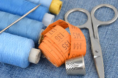 Retro sewing kit Stock Photography