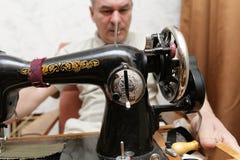Retro sewing-machine Royalty Free Stock Image