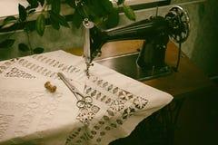 Retro sewing machine Stock Photo