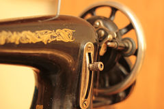 Retro sewing machine. Old vintage sewing machine,needle Stock Photography