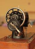 Retro sewing machine. Old vintage sewing machine,needle Stock Photo