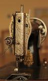 Retro sewing machine. Old vintage sewing machine,needle Stock Photos