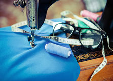Retro sewing machine Royalty Free Stock Image