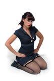 retro sexigt för flickautvikningsbrud Royaltyfri Foto