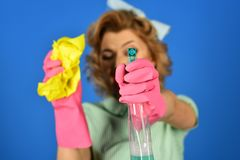 Retro Sexy Housewife. royalty free stock photography