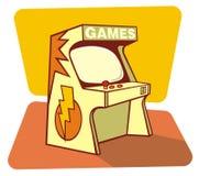 Retro sezione comandi dei giochi Immagini Stock Libere da Diritti