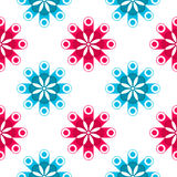 Retro shadowed pattern. Abstract seamless texture, vector art illustration, image contains transparency Stock Photos