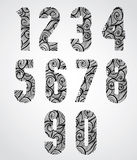 Retro shaped bold numbers. Stock Photos