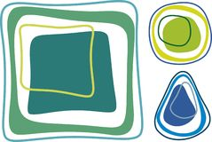 Retro shapes Stock Image