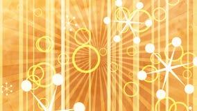 Retro shapes golden stock video