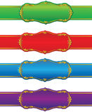 Retro shapes and ribbons. Set of design shapes and ribbons Royalty Free Stock Photo