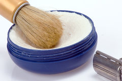 Retro shaving Stock Images