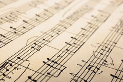 Retro sheet music Royalty Free Stock Photos