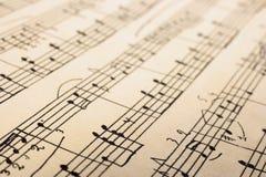 Retro sheet music. Abstract art background Royalty Free Stock Photos