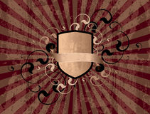 Retro shield. On a texture background Royalty Free Stock Image