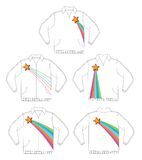 Retro shining star jacket. Design Stock Photo