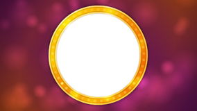 Retro shiny light circle banner video animation stock footage