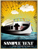 Retro ship illustration Stock Image