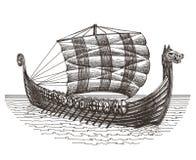 Retro ship vector logo design template. boat or Royalty Free Stock Photos