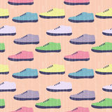 Retro Shoes. Background, sport texture Royalty Free Stock Photo