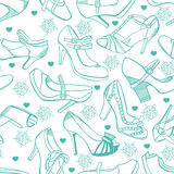 Retro shoes seamless background Royalty Free Stock Photography