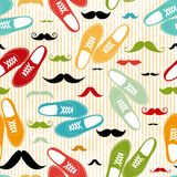 Retro shoes seamless background Stock Photography