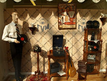 Retro shop window at GUM Royalty Free Stock Images