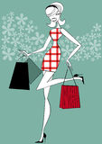 Retro Shopper Royalty Free Stock Images