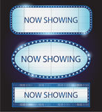 Retro Showtime-de bioskoopvector van het Tekentheater Stock Fotografie