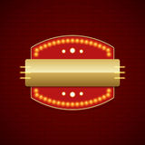 Retro Showtime Sign Design Cinema Signage Light Bulbs Billboard Royalty Free Stock Photography
