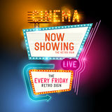 Retro Showtime-Teken Royalty-vrije Stock Foto's