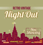 Retro Showtime znak Obrazy Royalty Free