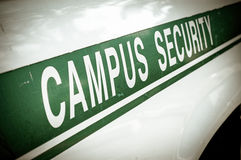 Retro sicurezza della città universitaria Fotografie Stock Libere da Diritti