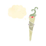 retro sigaretta di marijuana del fumetto Fotografie Stock Libere da Diritti