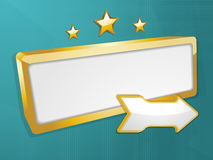 Retro sign. 3d signs and stars on a green background Royalty Free Stock Image