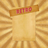 Retro sign on beige vintage background Royalty Free Stock Images