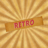 Retro sign on beigevintage background Royalty Free Stock Images
