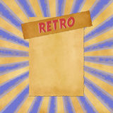 Retro sign on blue dark vintage background Royalty Free Stock Images
