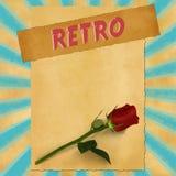Retro sign on blue vintage background Stock Photo