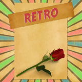 Retro sign on colorful vintage background Royalty Free Stock Photography