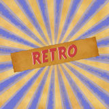 Retro sign on dark blue vintage background Royalty Free Stock Photo