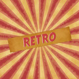 Retro sign on dark red vintage background Stock Image