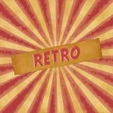 Retro sign on dark red vintage background Stock Image