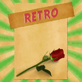 Retro sign on green vintage background Royalty Free Stock Photo