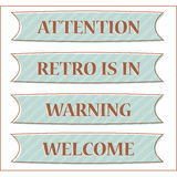 Retro sign and header with background Stock Photography