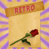 Retro sign on purple vintage background Royalty Free Stock Image
