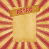 Retro sign on red vintage background Stock Images