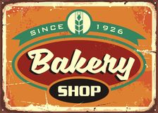Retro sign template for bakery shop Stock Photos