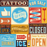 Retro Signs and Frames Stock Image